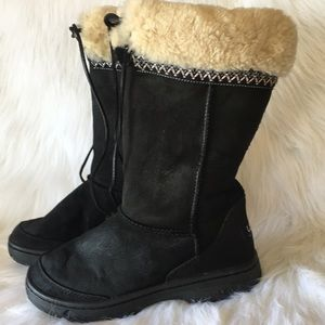 UGG black leather boots 👢
